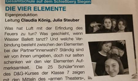 WIR sind dabei: 37. Schultheaterfestival in Köln